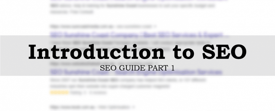 Introduction to SEO SEO Guide Part 1