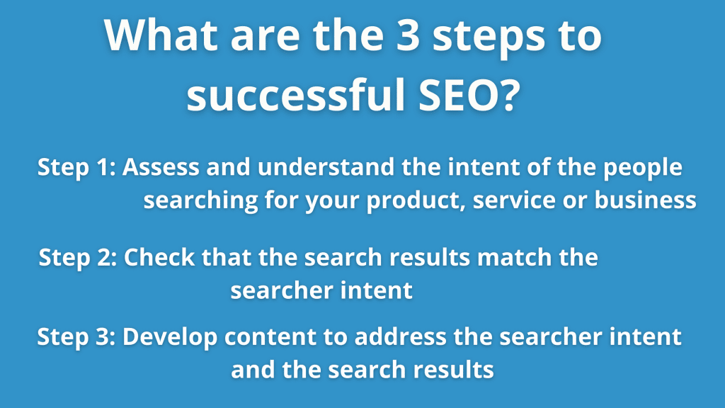 What are the 3 steps to successful SEO